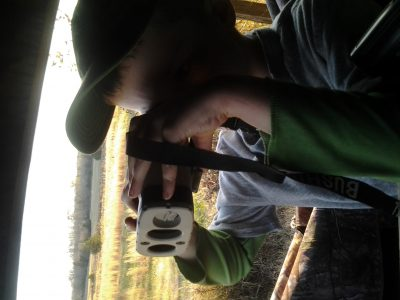 My son learning to range targets… and the concept of hundreds of yards… who say learning